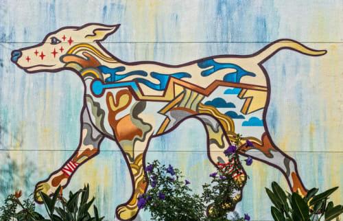 Murals by David Polka seen at Oakland Animal Services, Oakland - Dog