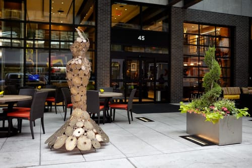 Sculptures by Thea Lanzisero seen at Archer Hotel New York, New York - Oracle