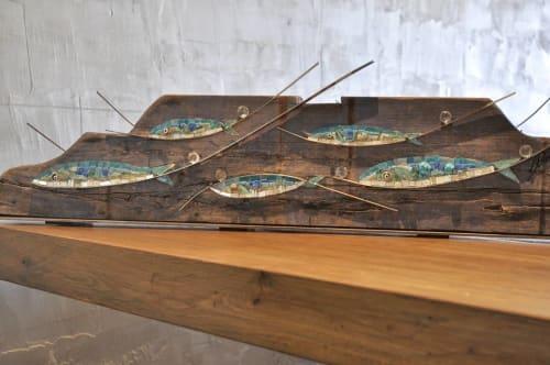Sculptures by Rossella Casadio seen at La Buca, il Ristorante, Cesenatico - Mare, 2018