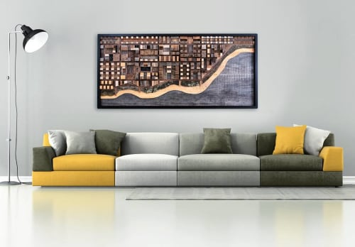 Wall Hangings by Craig Forget seen at Private Residence, Spring - Beach City Scape Artwork
