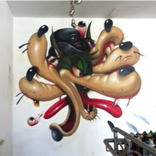 Murals by Steven Daily Studios seen at Wonderful World Art Gallery, Culver City - Mural
