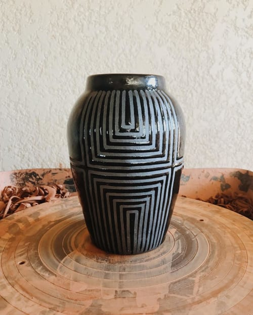Vases & Vessels by ZZIEE Ceramics at Independent Lodging Congress, in the William Vale NYC, Brooklyn - Striped Vase