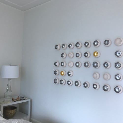 Art & Wall Decor by Lucrecia Waggoner at Private Residence, Houston - Moon Fall Gold
