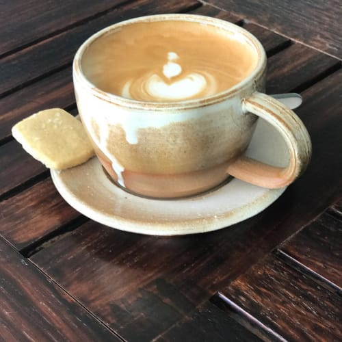 Cups by Settle Ceramics at Barley Swine, Austin - Cappuccino Cup & Saucer