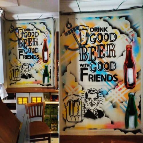 Murals by Steve Rickard seen at The Manchester Arms, Atlanta - Wall Mural