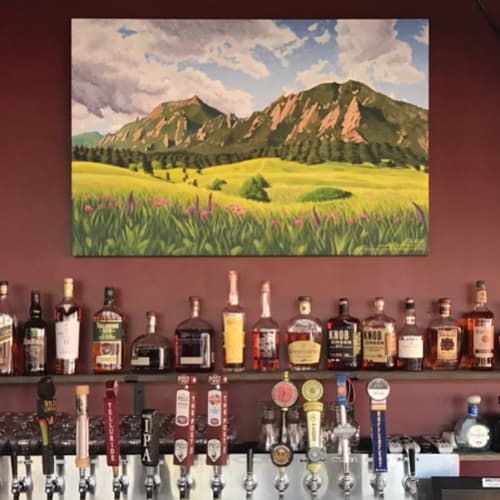 Paintings by Jason T. Graves seen at West End Tap House, Denver - Landscape Painting
