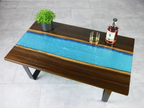 Tables by Julian Szmania seen at Private Residence, Aachen - Arctic Waters Table