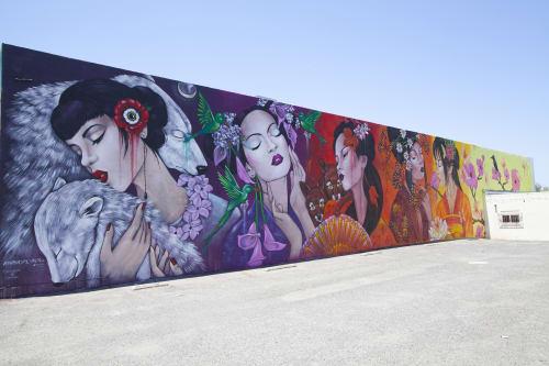 Murals by Amandalynn seen at Distinction Gallery, Escondido - Seasons of Change