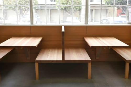 Furniture by Peter Doolittle -  PDX Productions seen at Tartine Manufactory, San Francisco - Wood  Furniture