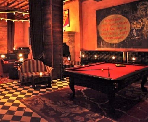 Paintings by Maarten Baas seen at Gramercy Park Hotel, New York - Smoke Billiard Table