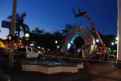 Sculptures by Rob Lorenson seen at Plaza at Five Points, Sarasota - Sarasota Deco
