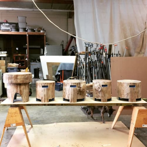 Chairs by Michael O'Connell Furniture seen at Glassell Park, Los Angeles - Stump Stools