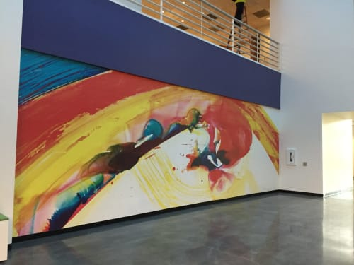 Murals by Patter Hellstrom Visual Art seen at Becton Dickinson, San Jose - Accelerate