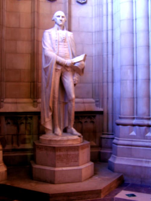 Sculptures by Lee Lawrie seen at The National Cathedral, Washington, D.C., Washington - Statue of George Washington