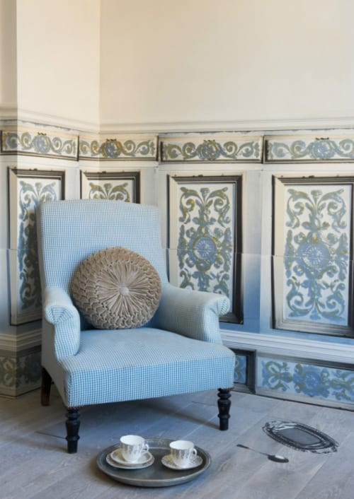 Wallpaper by Deborah Bowness seen at The Old Rectory - Guilded Illusion Wallpaper