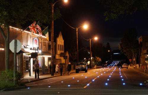 Lighting by Iole Alessandrini seen at 4th Avenue North, Edmonds - Luminous Forest