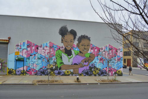 Street Murals by Chris Stain seen at Bushwick, Brooklyn, Brooklyn - Invent the future