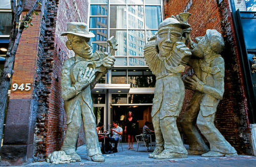 Public Sculptures and Public Mosaics by Liberty Avenue Musicians  Downtown Pittsburgh