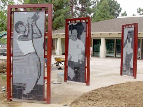 Public Mosaics by Steve Farley seen at Gardner Community Center, San Jose - Gardner Community Center Murals (Circle of Heroes)