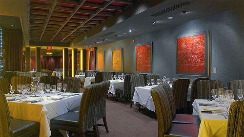 Paintings by Don Carstens seen at Mastro's Steakhouse Costa Mesa , CA, Costa Mesa - Windows to Mars