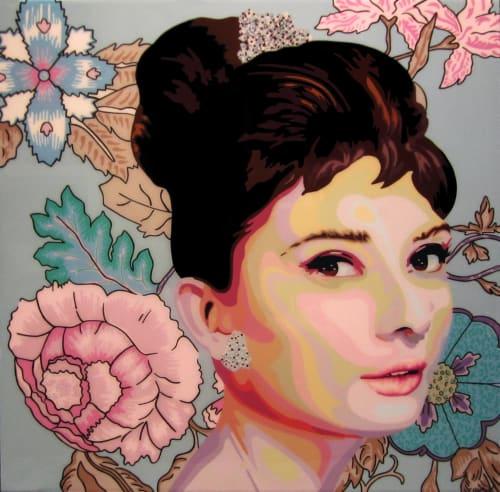 Audrey Hepburn Portrait   Paintings by Elisabetta Fantone Art   Kurbatoff Gallery in Vancouver
