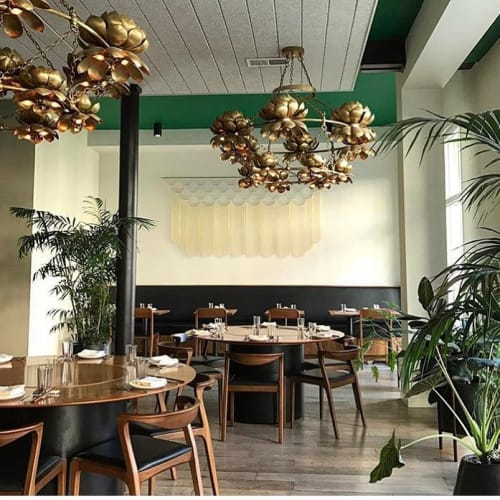 Art & Wall Decor by Beth Naumann at Mister Jiu's, San Francisco - Brass Geometric Installation