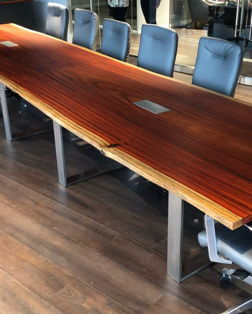 Tables by Black Forest Wood Co. seen at Dallas, Texas Office, Dallas - Padauk Conference Table