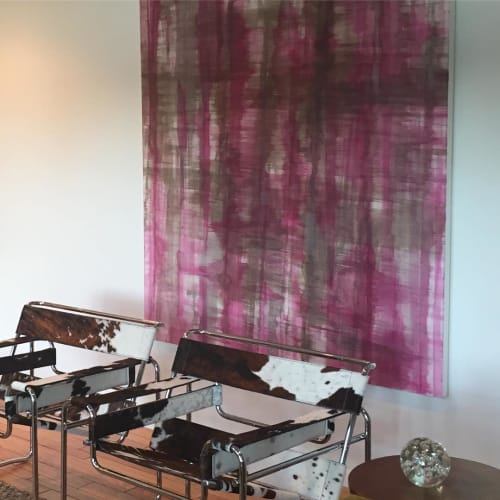 Paintings by Kari Kroll seen at Private Residence - Purple Abstract