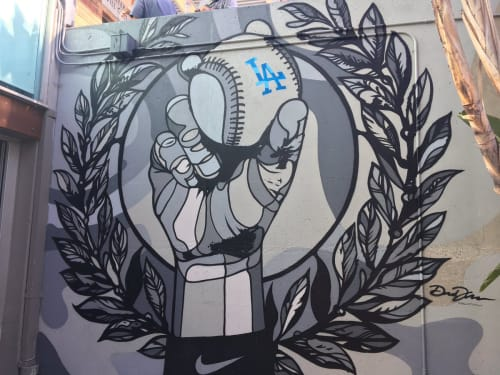 Murals by David Flores seen at Dodger Stadium, Los Angeles - LA Baseball