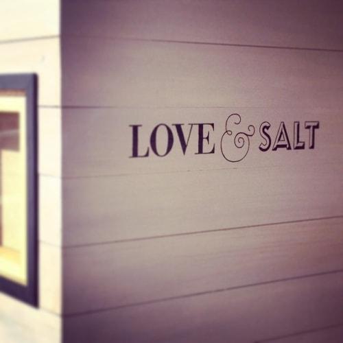 Signage by Leaf Cutter Studio seen at Love & Salt, Manhattan Beach - Hand Painted Signs