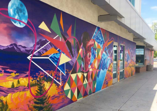 Street Murals by Jessica Gonzales Art seen at The Little One, Tucson - The Path Unpaved