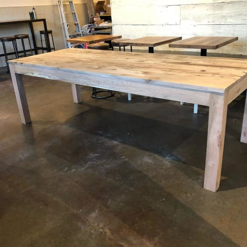 Tables by Wain Green Wood seen at Second State Coffee, Charleston - Live Oak Table