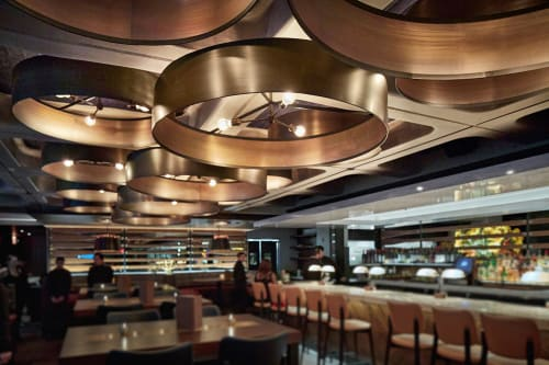 Lighting by Cerno seen at Ocean Prime Beverly Hills, Beverly Hills - Custom Lighting