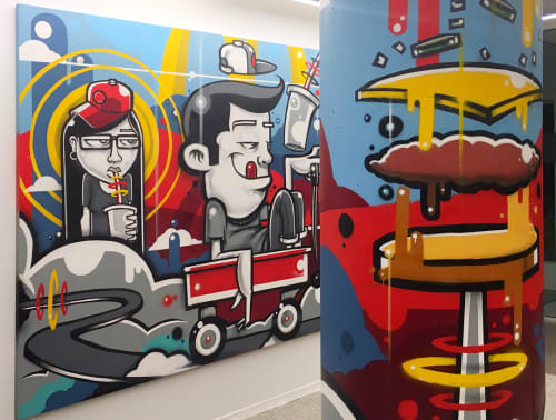 Murals by Anthony Lewellen seen at We Are Unlimited, Chicago - Fast Food