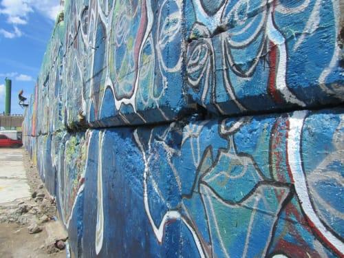 Street Murals by Mercedes Llanos seen at Mar del Plata, Mar del Plata - Mural