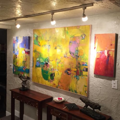 Paintings by John Berry seen at Private Residence - Abstract Paintings