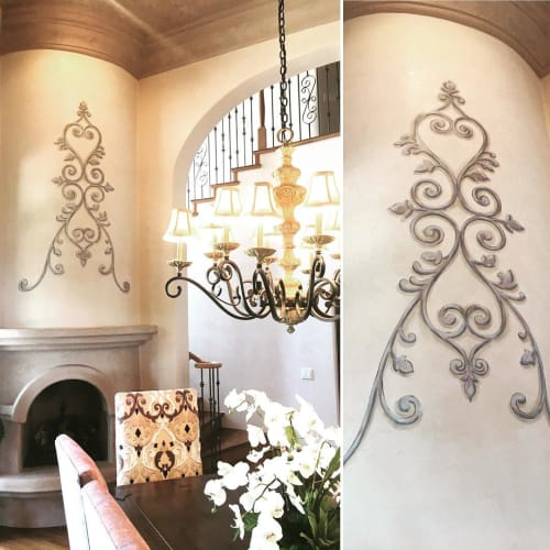 "Murals by Art by KVK seen at Private Residence, Scottsdale - ""Perty"" Design"
