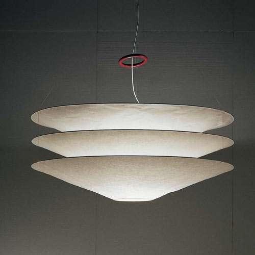 "Lighting by Ingo Maurer seen at Avra Madison Estiatorio, New York - ""Floatation"" Ceiling Lamps"