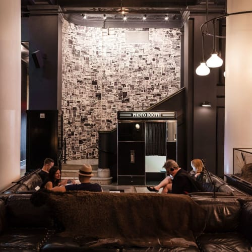 Murals by Michael Anderson seen at Ace Hotel New York, New York - Graffiti Sticker Wall Mural