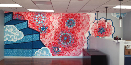 Murals by Molly Rose Freeman seen at Lightbend, Inc., San Francisco - Typesafe Offices Mural