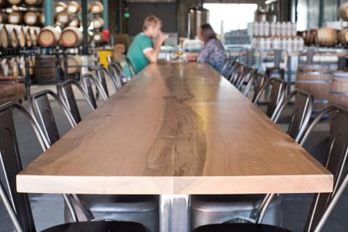 Tables by Tomlinson Woodworks seen at The Rare Barrel, Berkeley - Custom Wood Countertops