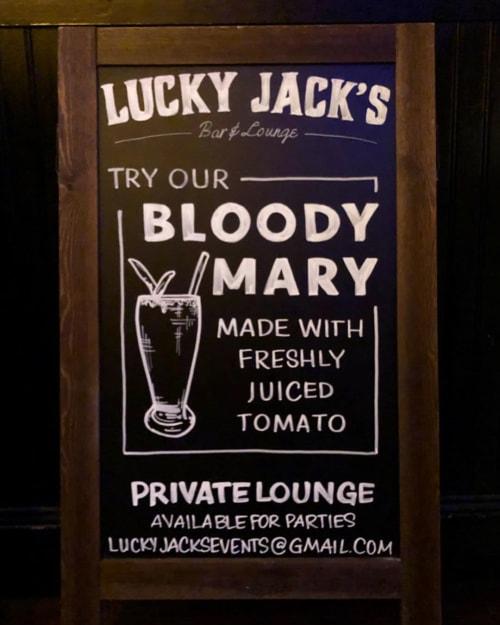 Signage by Megan Webber Jordan seen at Lucky Jack's, New York - Chalkboard Signs