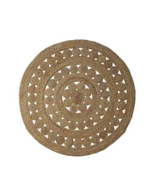 Rugs by Serena & Lily at The Joshua Tree Casita, Joshua Tree - Round Jute Rug