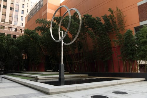 Sculptures by George Rickey seen at JPMorgan Chase Building, San Francisco - Annular Eclipse