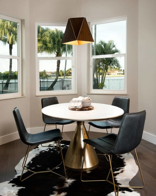 Pendants by Cerno seen at Private Residence, Davie - Calx 19 Pendant