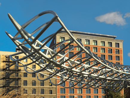 Public Sculptures by Mark Gibian at Hudson River Park, Tribeca Segment, New York - Offshoot