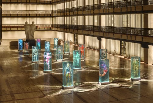 Dustin Yellin - Sculptures and Art