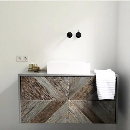 Furniture by Robuust Maatwerk seen at Private Residence - Bathroom Furniture