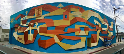 Murals by Brian Barneclo at Downtown San Mateo Caltrain, San Mateo - Good Life 2017