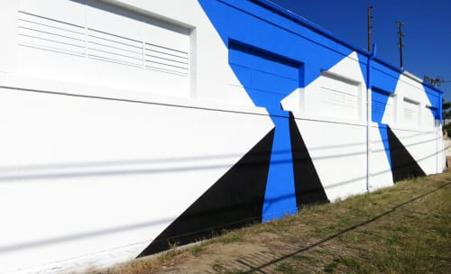 Murals by Tofer Chin seen at MIDCENTURYLA, Los Angeles - Three - Outdoor Mural
